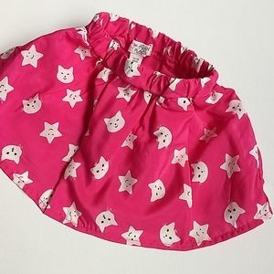 Bright Pink Cats and Stars Skirt * Size 12…